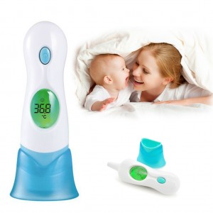 Digital Handheld Infrared Ear and Forehead Thermometer with LCD Display