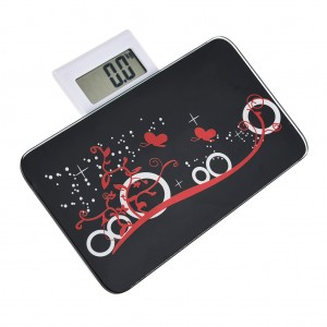 Portable Body Weighing Bathroom Scales Black