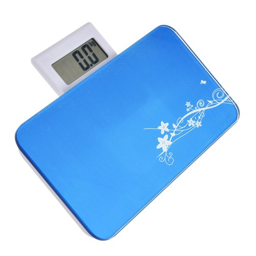 Cheap Bathroom Scales Free Delivery: Portable Body Weighing Bathroom Scales Blue
