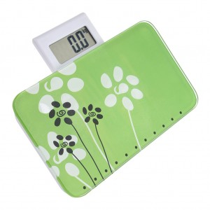 Digital LCD Body Scale Portable Bathroom Weighing Scale Green
