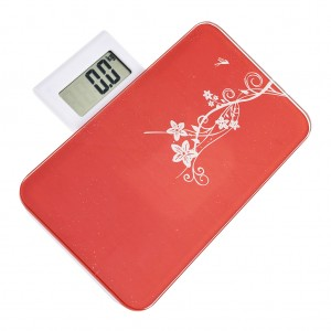 Portable Body Weighing Bathroom Scales Red