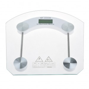 Digital Glass Top Bathroom Weight Scale Body management Auto reset
