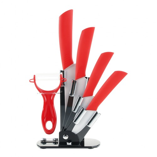 6pcs Ceramic Knives Kitchen Knife Set With Peeler