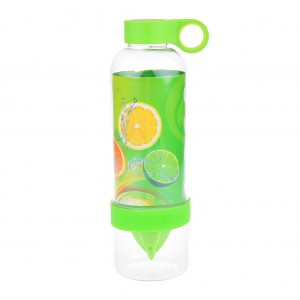 830ML Plastic Fruit Lemon Bottle Sports Lemonade Infuser Water Bottle