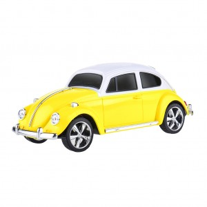 Portable Digital Mini Speaker Classic Taxi Design - Yellow
