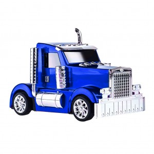 Portable Digital Speaker Oil Truck Design - Blue