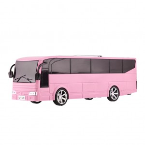 Portable Digital Speaker Tour Bus Design Multi Functional Rechargeable MP3 Player - Pink