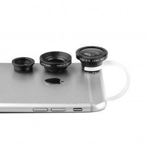 Universal Wide Angle+Macro+Fish Eye Clip on Lens for Phone Tablet