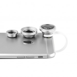 Universal Clip-On Lens 3 in 1 for Mobile Phones/Pads-Silver