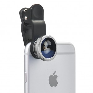 3 in 1 Portable Clip Camera Lens Kit for Universal Smart Mobile Phone Tablet - Silver