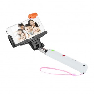 Extendable Bluetooth Selfie Camera Stick Selfie Monopod - White