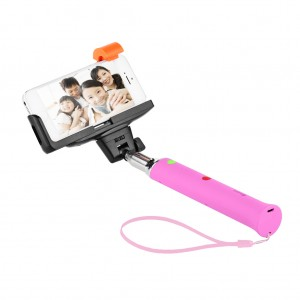 Extendable Bluetooth Selfie Camera Stick Selfie Monopod - Pink