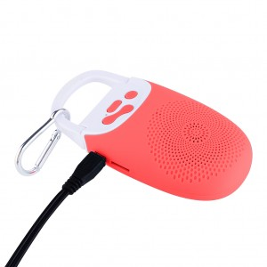Portable Bluetooth Speaker with Music Player Hands Free support TF Card - Red