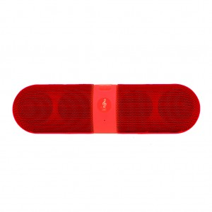 Portable Stereo Bluetooth Speaker Music Player- Red