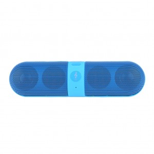 Portable Stereo Bluetooth Speaker Hands Free - Blue