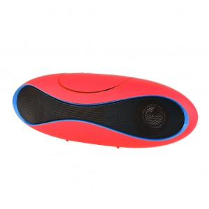 Bluetooth Speaker Music Player Supporting SD Card / USB / FM - Red