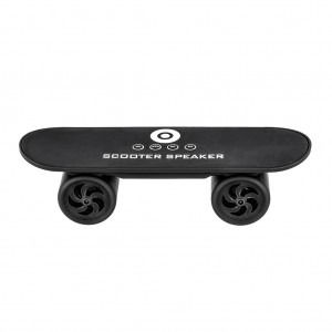 Mini Skateboard Bluetooth Speaker Hands Free - Black