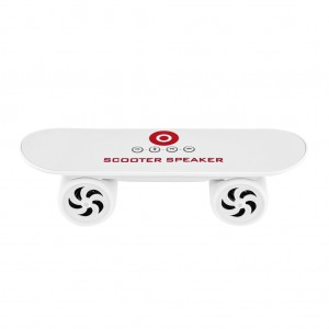 Mini Skateboard Bluetooth Speaker - White