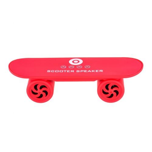 Mini Skateboard Bluetooth Speaker Hands Free  - Red