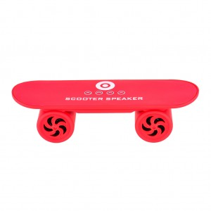Mini Skateboard Bluetooth Speaker Hands Free  - Red