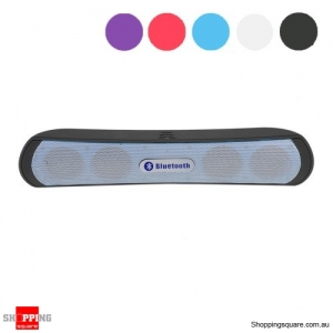 Slim Bluetooth Wireless Speaker Bass - Rich Music Player - Black