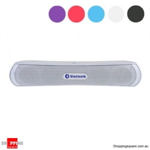Slim Bluetooth Wireless Speaker Bass - Rich Music Player - Silver