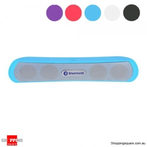 Slim Bluetooth Wireless Speaker Bass - Rich Music Player - Blue