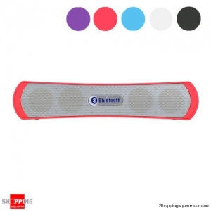 Slim Bluetooth Wireless Speaker Bass - Rich Music Player - Red