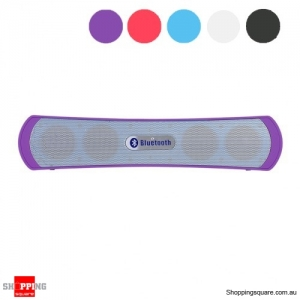Slim Bluetooth Wireless Speaker Bass - Rich Music Player - Purple