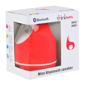 Bluetooth Speaker with Music Player Hands Free TF Card - Red