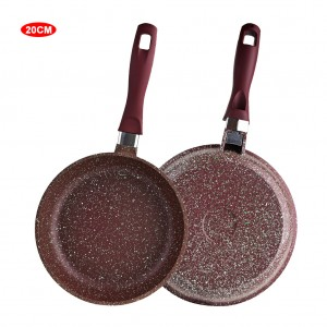 8 inch Saute Pan Marble Coated Aluminum Skillet - Brown