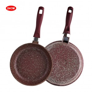 10 inch Saute Pan Marble Coated Aluminum Skillet - Brown