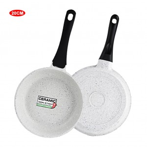 8 inch Saute Pan Marble Coated Aluminum Skillet - Gray