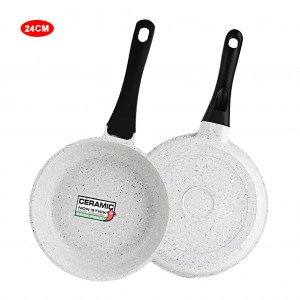 10 inch Saute Pan Marble Coated Aluminum Skillet - Gray