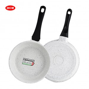 12 inch Saute Pan Marble Coated Aluminum Skillet - Gray