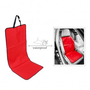 Universal Car Front Bucket Seat Cover for Pets/Dog Travel Waterproof - Red