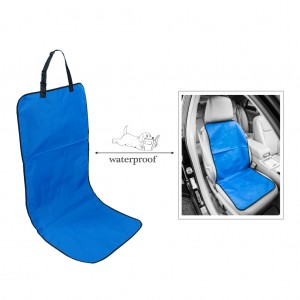 Universal Car Front Bucket Seat Cover for Pets/Dog Travel Waterproof - Blue