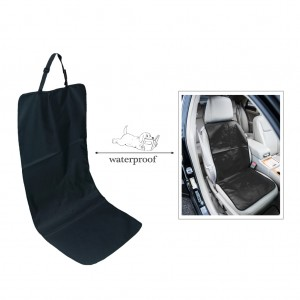 Universal Car Front Bucket Seat Cover for Pets/Dog Travel Waterproof - Black