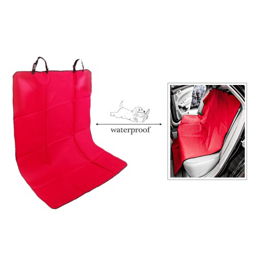 Waterproof Pet Rear Back Seat Cover Protector - Red