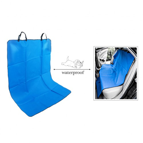 Waterproof Pet Rear Back Seat Cover Protector - Blue