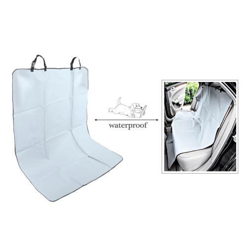 Waterproof Pet Rear Back Seat Cover Protector - Light Gray