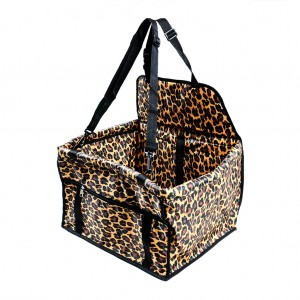 Waterproof Front Bucket Seat Cover for Pets/Dog Hammock - animal print Leopard Print