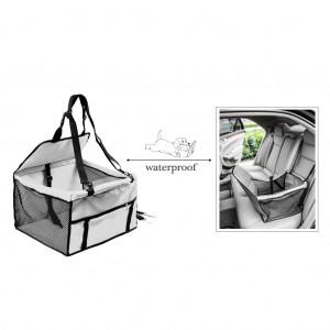Waterproof Front Bucket Seat Cover for Pets Hammock w/ Seatbelt