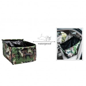 Pet Back Rear Seat Cover Hammock Waterproof Zippered for Car - Camouflage