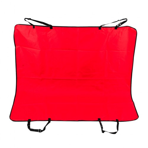Pet Rear Back Seat Covers Waterproof Protector Hammock Cover Mat - Red