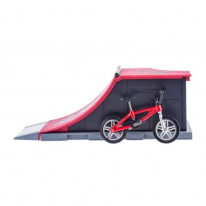 Kids Finger Stunt Bike Bicycle Finger Board Play Set Escalator Bank