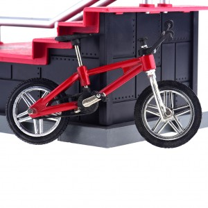 Kids Finger Stunt Bike Bicycle Play Set Wheel Tech Deck Handrail Stair