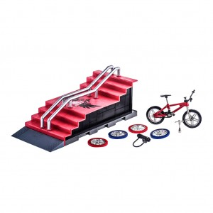 Kids Finger Stunt Bike Play Set Round Deck