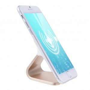 Micro-suction Phone Stand Holder Car Mount for iPhone 6 Plus Samsung Nexus - Gold