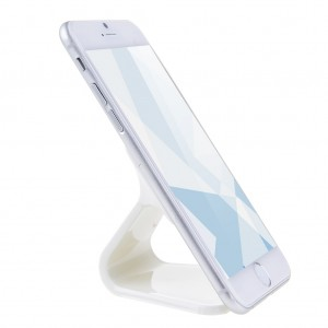 Micro-suction Phone Stand Holder Car Mount for iPhone Samsung - White